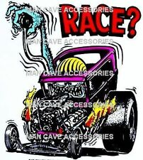 Vintage RAT FINK RACE Vinyl Decal Sticker 4350