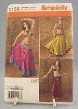 Simplicity Pattern #2158 Costumes Belly Dancer Harem Andrea Schewe Uncut