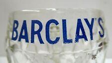 VINTAGE BARCLAYS BEER MUG STEIN GLASS COLLECTORS BANK ADVERTISING SIGN