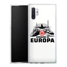 Samsung Galaxy Note 10 Plus Silikon Hülle Case Handyhülle Eintracht Europa white