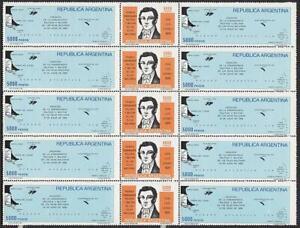 $$ wholesale $$ ARGENTINA 1982 LUIS VERNET/ POLAR MAPS x5 SC#1366a MNH