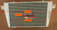 "450 X 300 X 70mm Universal Aluminum Intercooler Inlet/Outlet 76mm 3"" Tube & Fin"