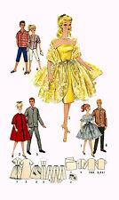 """Barbie & Ken by Mattel 11.5"""" 12"""" Doll Clothing PATTERN 4422 Men's Suit Coat pant"""