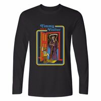Has A Visitor Printed Men's Cotton Long Sleeve T-Shirt Casual Crew Neck tops