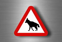 Sticker decal warning car fridge road sign warning hyenas
