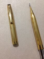 VINTAGE SHEAFFER GOLD PLATED JEWEL CAP 0.9MM MECHANICAL PENCIL-MADE IN ENGLAND.
