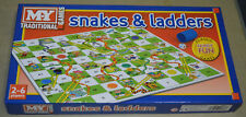 Snakes and Ladders Board Game Traditional Children Games X 1 734548686531