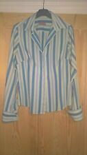 Thomas Pink Fitted Blue Striped Work Shirt Size 10 -