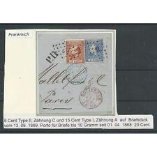 Nederland 9 IA en 7 IIC COMBI-frankering briefstukje naar PARIJS   VFU/gebr   CV