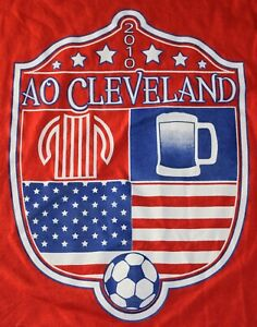 AMERICAN OUTLAWS 2010 CLEVELAND SHIRT SIZE XL RARE USA SOCCER CLUB TSHIRT FC