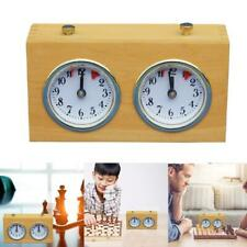 Taurner Retro Wooden Shell Mechanical Chess Clock without Battery Error Under One Second Professional Digital International Chess Clock with Alarm Function