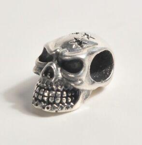 Silver 925 Skull Pendant Charm Bead Steam Punk