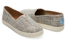 NEW Toms Avalon Oxford Tan Tweed Slip On Shoes Flats Womens 6 US