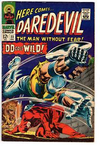 DAREDEVIL #23 (1966) - GRADE 6.0 - DD GOES WILD - BATTLE IN ROMAN COLISEUM!