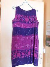 Robe d'été violette et violine 3 Suisses taille 40/42