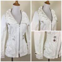 WHBM WHITE HOUSE BLACK MARKET Womens XXS Wide Collar Drawstring Ruching Jacket