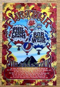 FURTHUR GRATEFUL DEAD FALL TOUR 2011 ORIGINAL CONCERT LENTICULAR 3D POSTER LESH