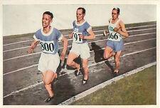 Paavo Nurmi Ville Ritola Finland Edvin Wide Sweden 1928 OLYMPIC GAMES CARD 1936