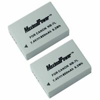 BATTERY x 2 for CANON NB-7L PowerShot G-Series G10 G11 G12 Camera TWO BATTERIES