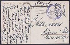 Marine Feldpost kaiserl. Marine II. Matrosen Div. auf AK Linschoten - Düren 1918