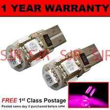 W5W T10 501 Canbus Nessun Errore ROSA 5 LED INTERNO CORTESIA LAMPADINE x 2 HID