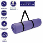 61x183cm Yoga Mat 15mm Thick Non Slip Exercise Mats for Gym Workout Pilates