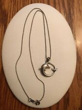 Sterling Siver Dolphin Pendant Necklace on Sterling Chain