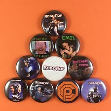 "RoboCop 1"" Button Pin lot Paul Verhoeven Robo Cop Action Violence"