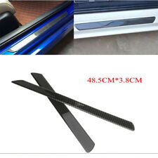2x Carbon Fiber Car SUV Scuff Plate Door Sill Cover Panel Step Guard Protector