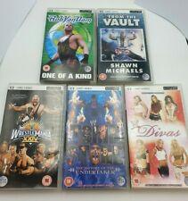 5 x PSP UMD Wrestling Videos - Wrestlemania, Divas, TombStone, etc