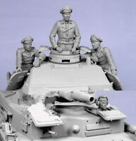 1/35 Resin Figure Model Kit German Soldiers no Tank 4 Figures WWII WW2 Unpainted