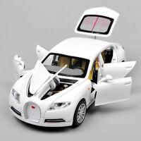 1:32 Scale White Bugatti Veyron 16C Galibier Sound & Light Diecast Car Model Toy