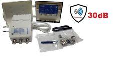 Satelite Rover 2U/V COMBI Lte Kit Alimentador de Mastil y Fuente de Alimentación - Blanco/Azul (81098)
