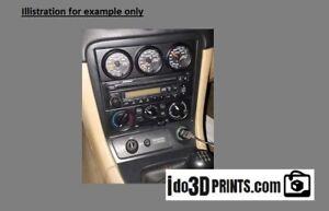 MAZDA MIATA MX5  1997-2005 Gauge Cluster Pod 52mm Triple Gauge - 1 DIN Frame