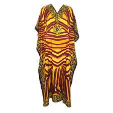 Dress Kaftan Maxi Cover Up Boho Printed Taj Mahal Moroccan Animal Paisley Caftan