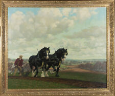 Norman Carter - Large Framed 20th Century Oil, The Plough