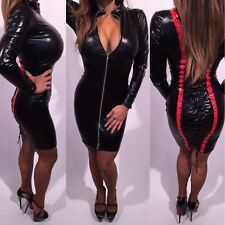 Connie's Black and Red Club Dress With Full Lace up Back  OS or One Size