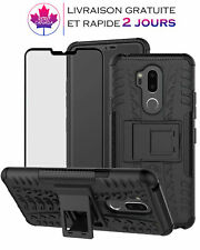 Coque,étui pour LG G7/Thinq Double couche antichoc avec film protection d'ecran