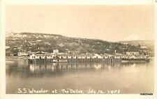 1938 SS Wheeler Dalles Oregon RPPC real photo postcard 4625