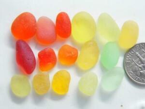16 XS-M Citrus Brights UV & Neon 10g JQ RARE Genuine Seaham English Sea Glass