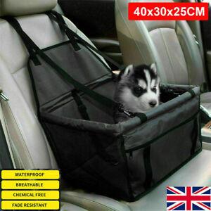 Large Car Seat Carrier Cat Dog Pet Puppy Travel Cage Booster Belt Bag 30L Black