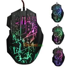 USB Gaming-Maus 5500 DPI Optische Mause LED-Beleuchtung 7 Tasten PC Laptop Mouse