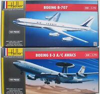 Heller 80308 + 80452 - BOEING E-3 A/C AWACS + B-707 - 1:72 -Flugzeug Bausatz Kit