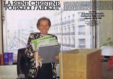 COUPURE DE PRESSE CLIPPING 1985 CHRISTINE OCKRENT   (6 pages)