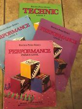 BASTIEN PIANO BOOKS BASIC PERFORMANCE LEVEL 1,2 & PRIMARY AND LEVEL 3 TECHNIQUE