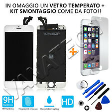 "TOUCH SCREEN LCD DISPLAY RETINA VETRO LCD APPLE IPHONE 6 BIANCO 4,7"" GLS 48H 6G"