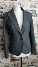 BNWT NEXT Tailored Grey Check Smart Jacket /Blazer Size 8 UK Regular Work/Office