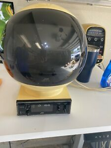 Vintage JVC VIDEOSPHERE CLOCK RADIO/TV MODEL #3241 CRT TV- Works