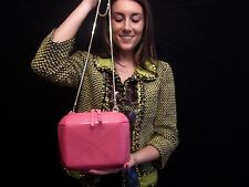 NWOT Kate Spade NY ICEBOX JEWELS PAVIA PATENT LEATHER HOT PINK CLUTCH SHOULDER