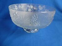 "Indiana Glass Tiara Ponderosa Pine Pedestal 9-3/8"" Serving Bowl # 630"